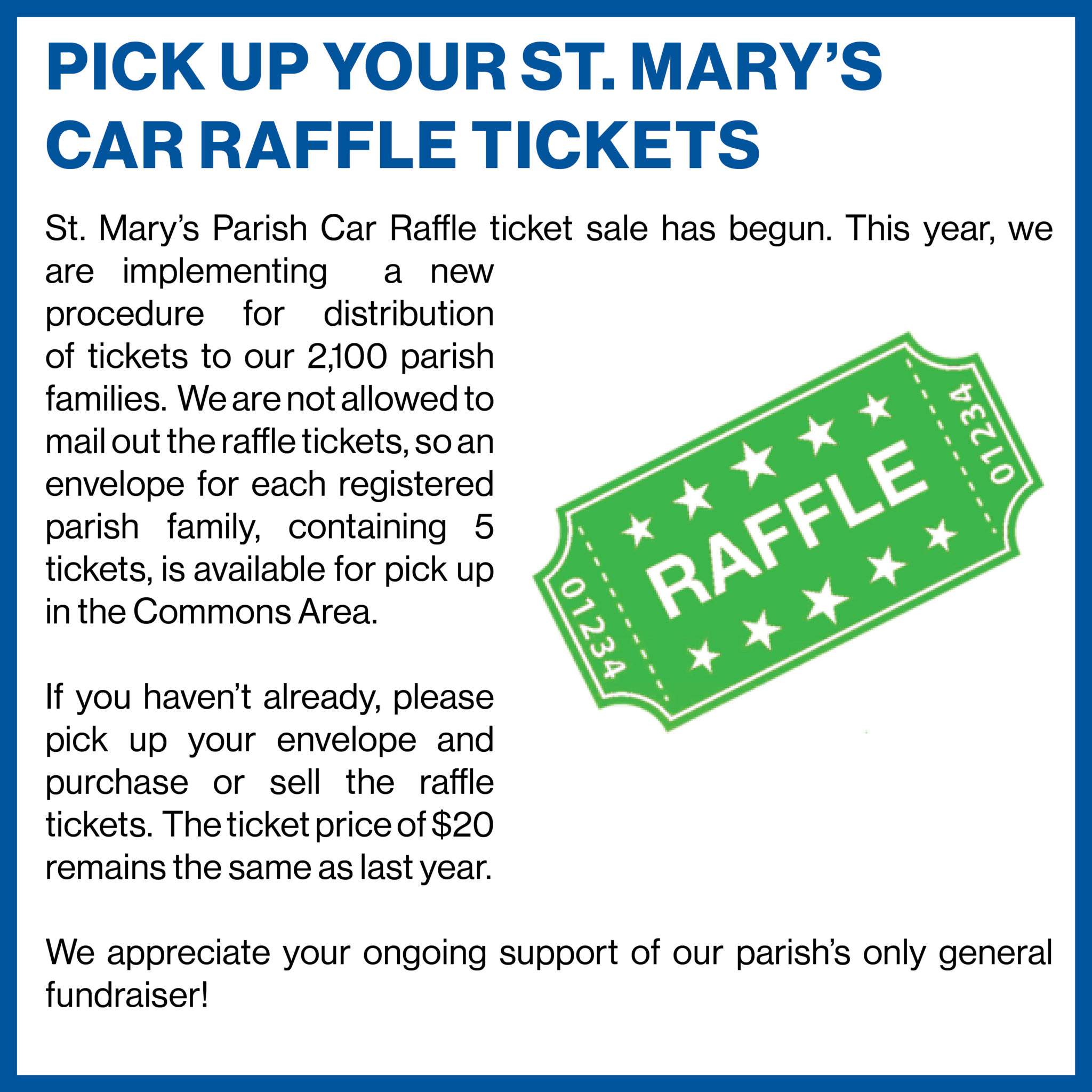 st marys raffle tickets